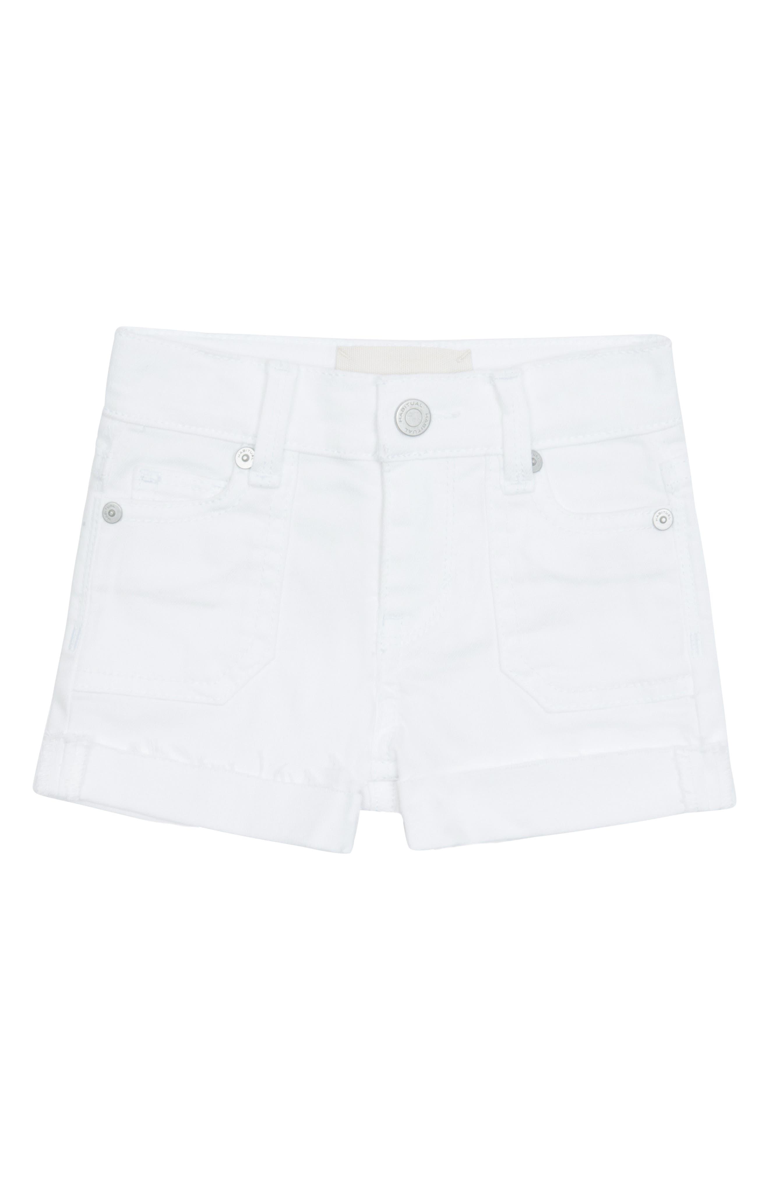 Toddler Girls Habitual Girl Thulia Frayed Cuffed Shorts Size 3T  White