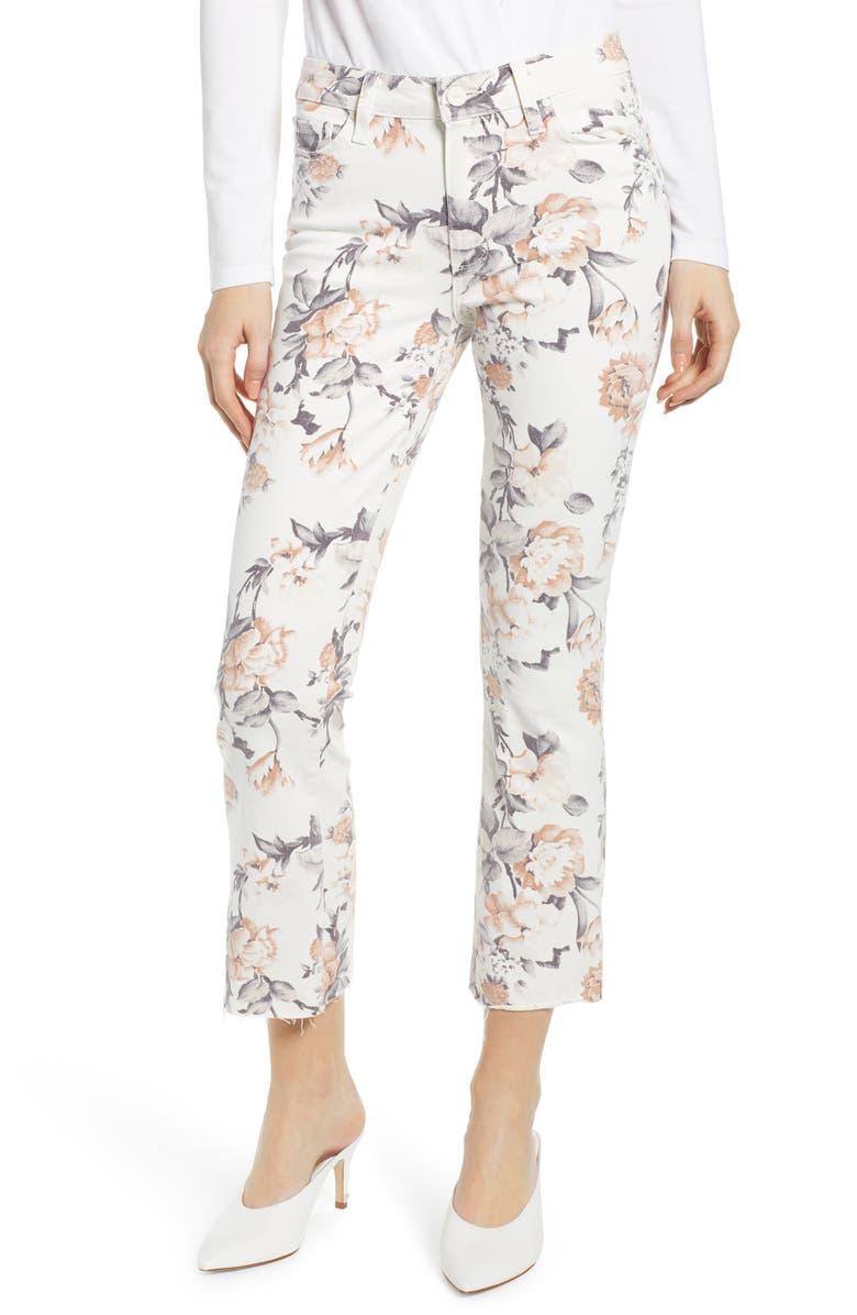 PAIGE Colette High Waist Crop Flare Jeans, Main, color, 100