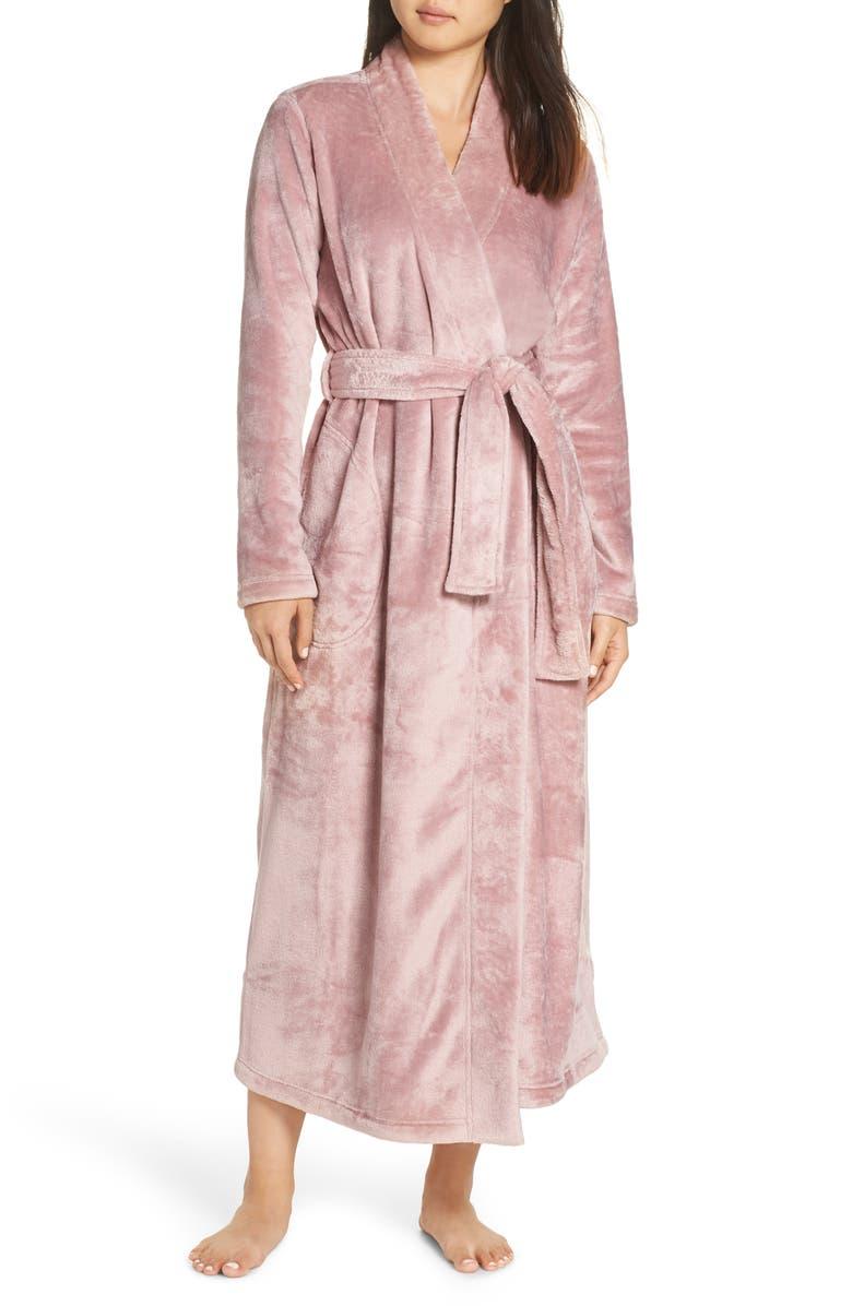 UGG<SUP>®</SUP> Marlow Double-Face Fleece Robe, Main, color, DUSK
