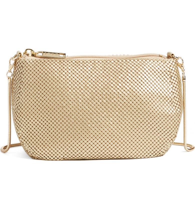 WHITING & DAVIS 'Matte' Mesh Crossbody Bag, Main, color, 710