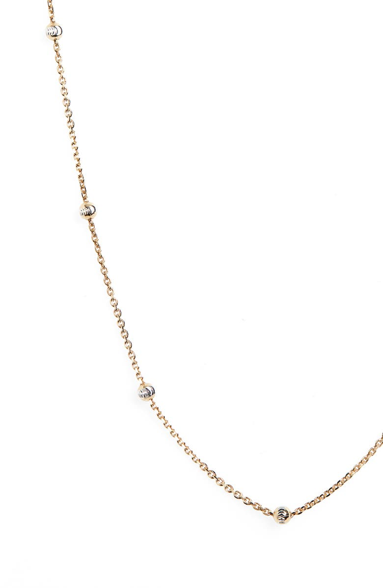 ARGENTO VIVO Ball Station Chain Necklace, Main, color, GOLD/ SILVER
