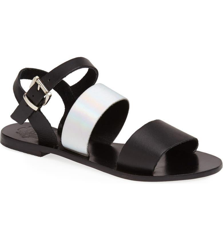 SOL SANA 'January' Leather Sandal, Main, color, 001