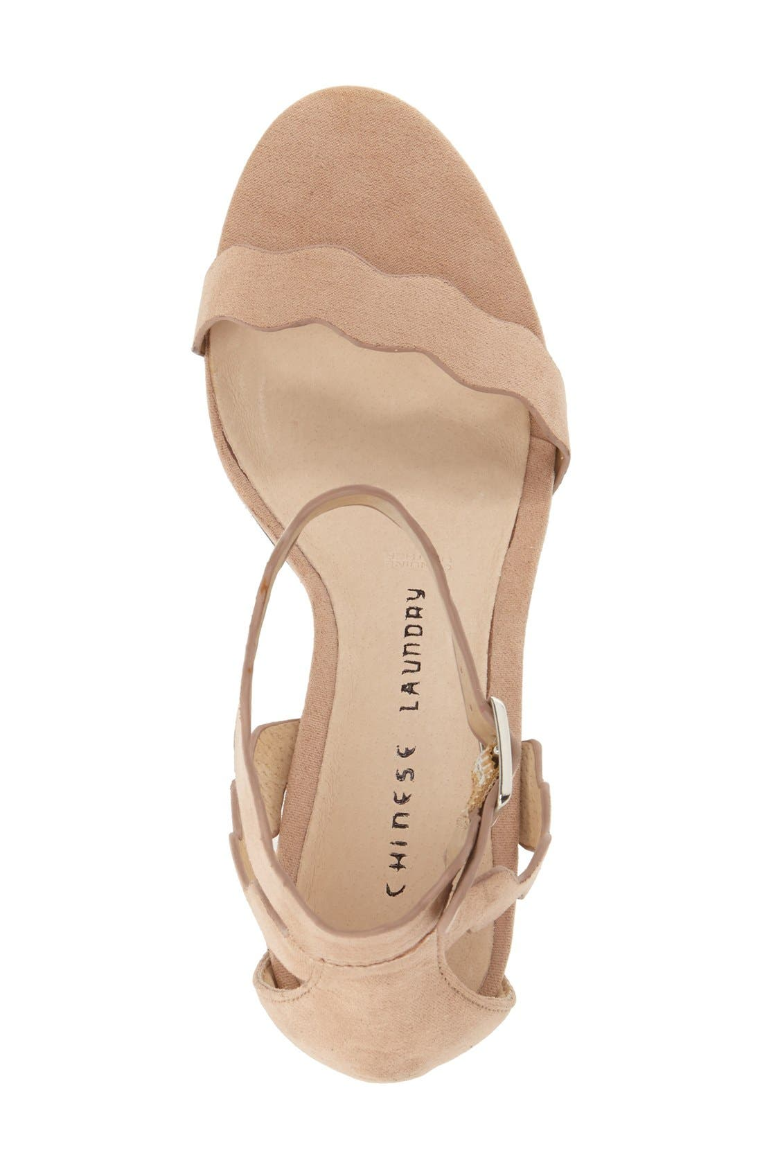 ,                             'Rubie' Scalloped Ankle Strap Sandal,                             Alternate thumbnail 14, color,                             255