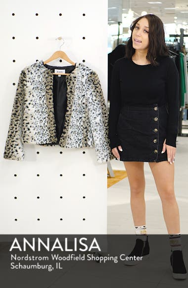 7108affb3a7d ... Wild Thing Snow Leopard Print Faux Fur Jacket, sales video thumbnail ...