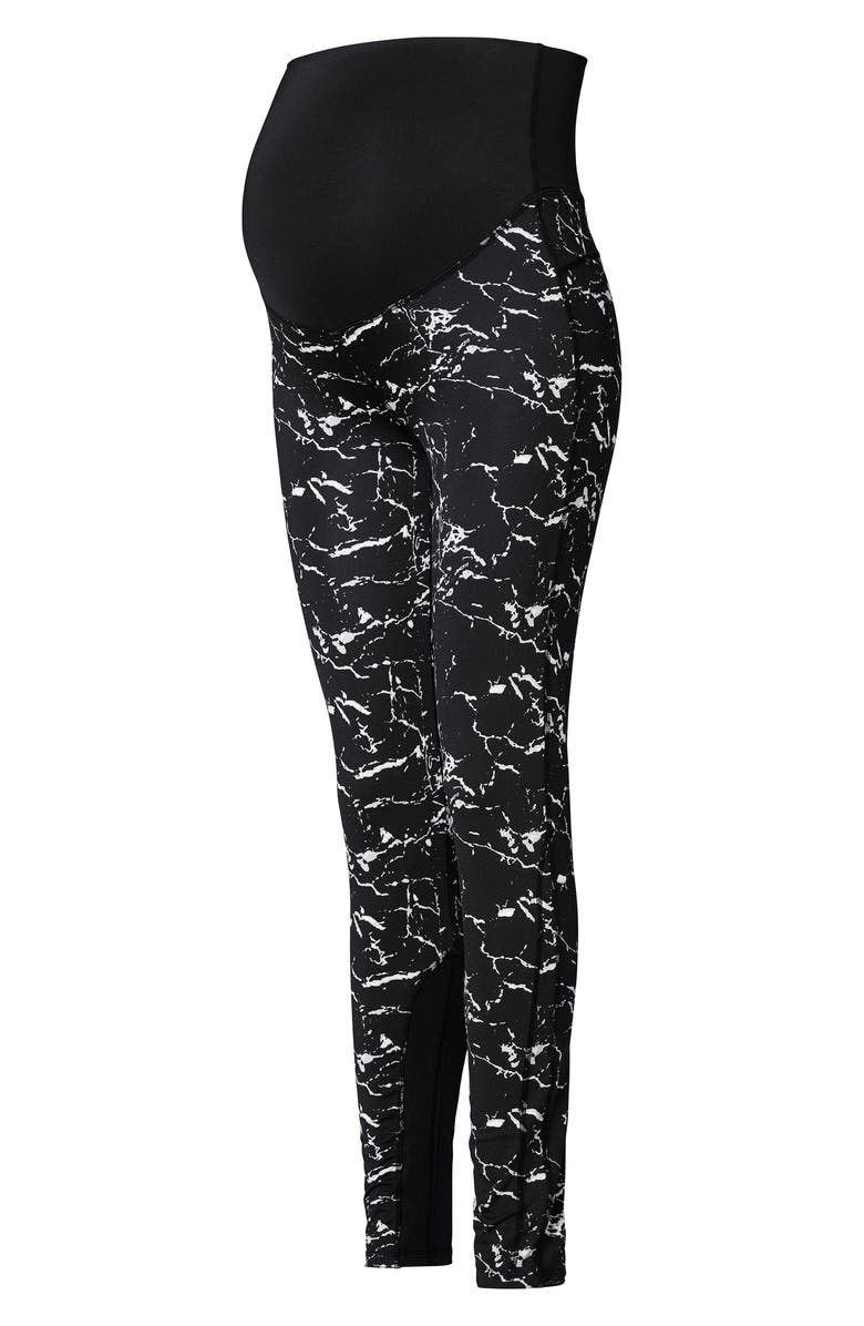 NOPPIES Fae Over the Belly Leggings, Main, color, BLACK