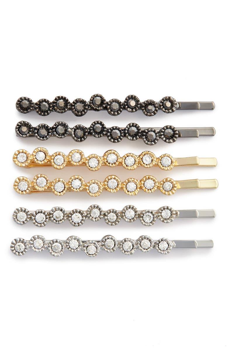 TASHA 'Sparkle' Bobby Pins, Main, color, GOLD