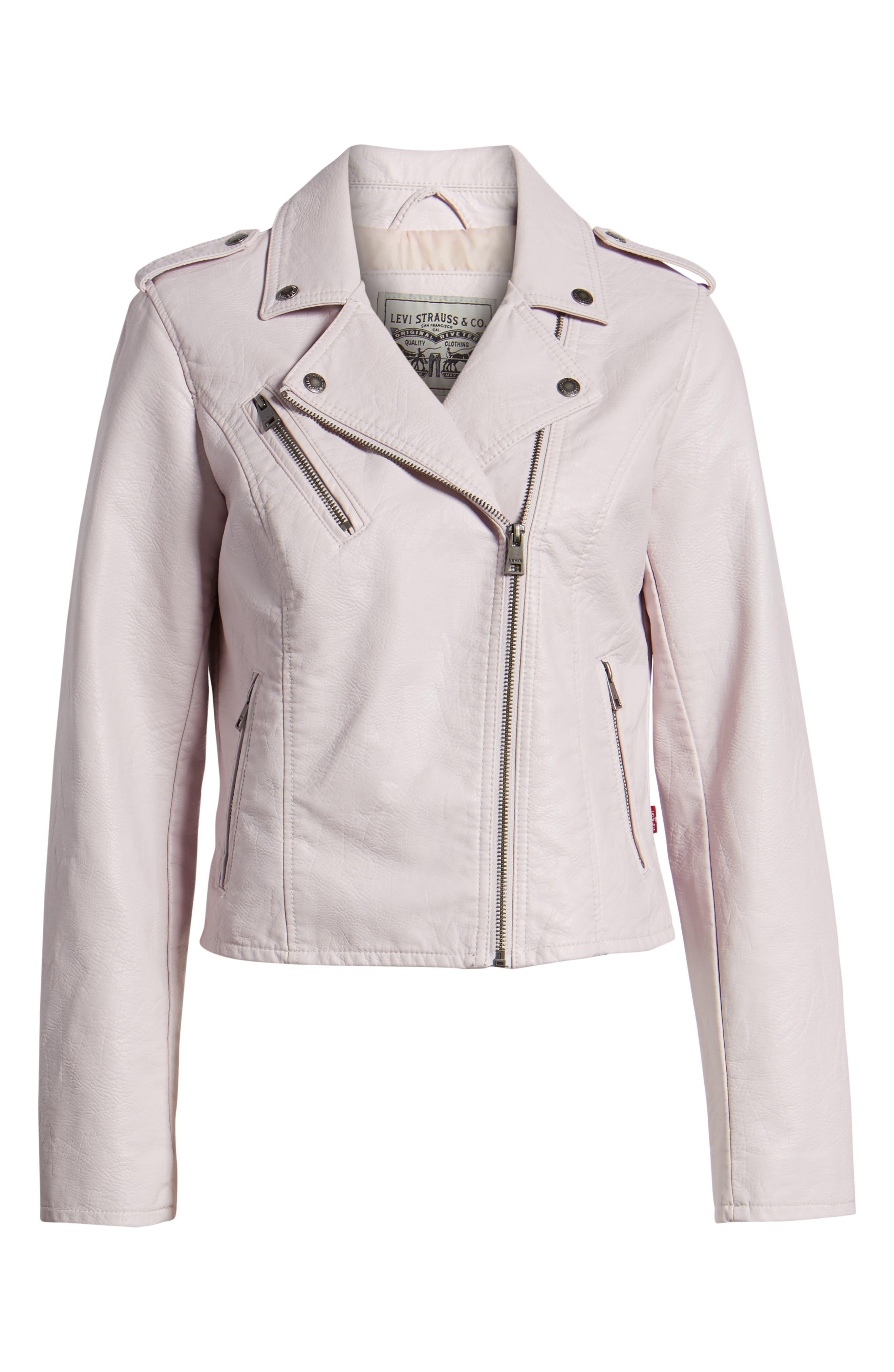 ,                             Faux Leather Moto Jacket,                             Alternate thumbnail 19, color,                             684