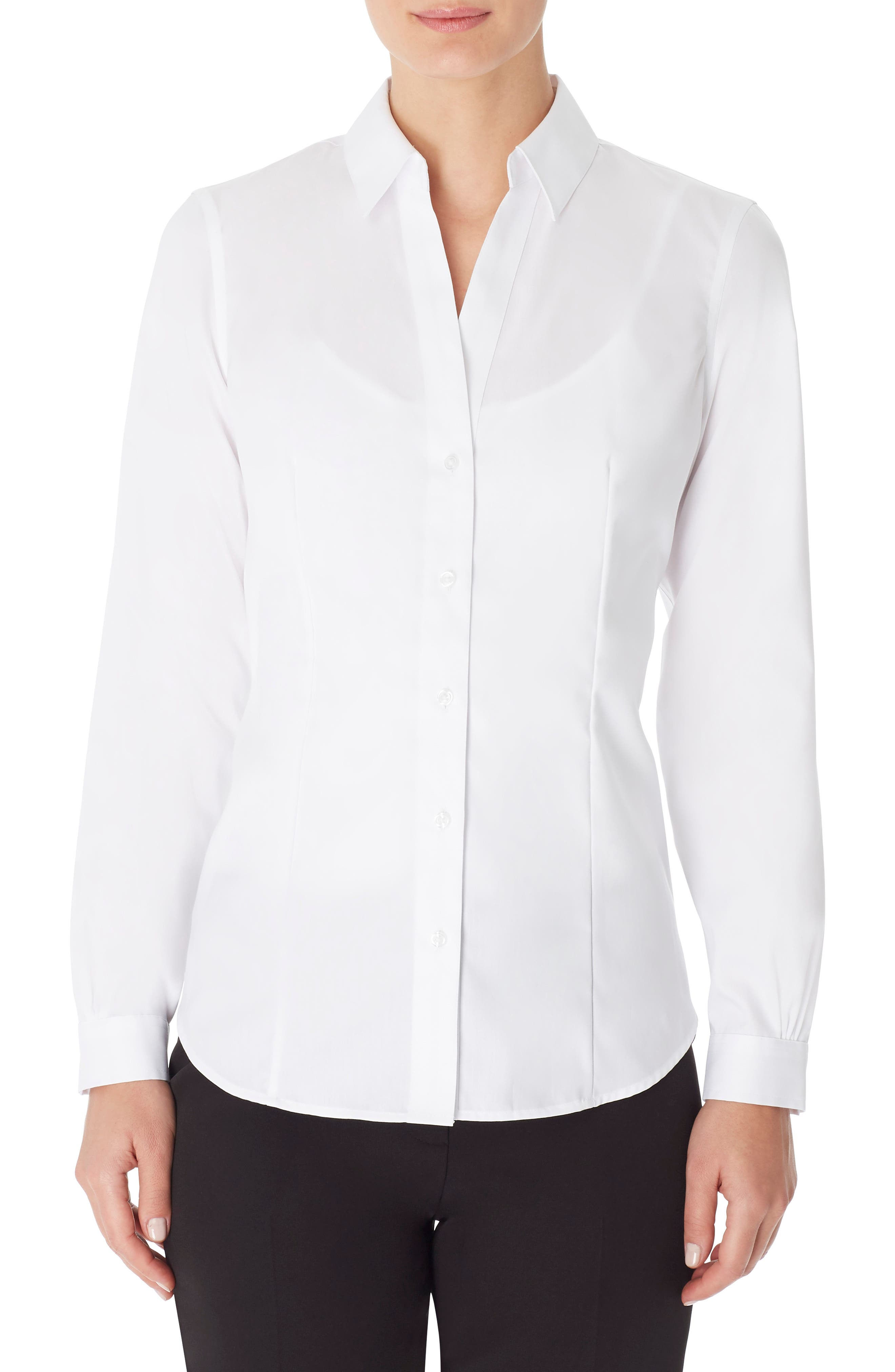 Solid Button-Up Cotton Shirt