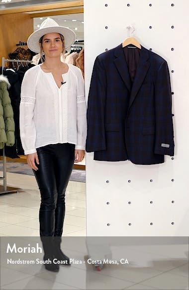 Sienna Soft Classic Fit Plaid Silk & Wool Sport Coat, sales video thumbnail