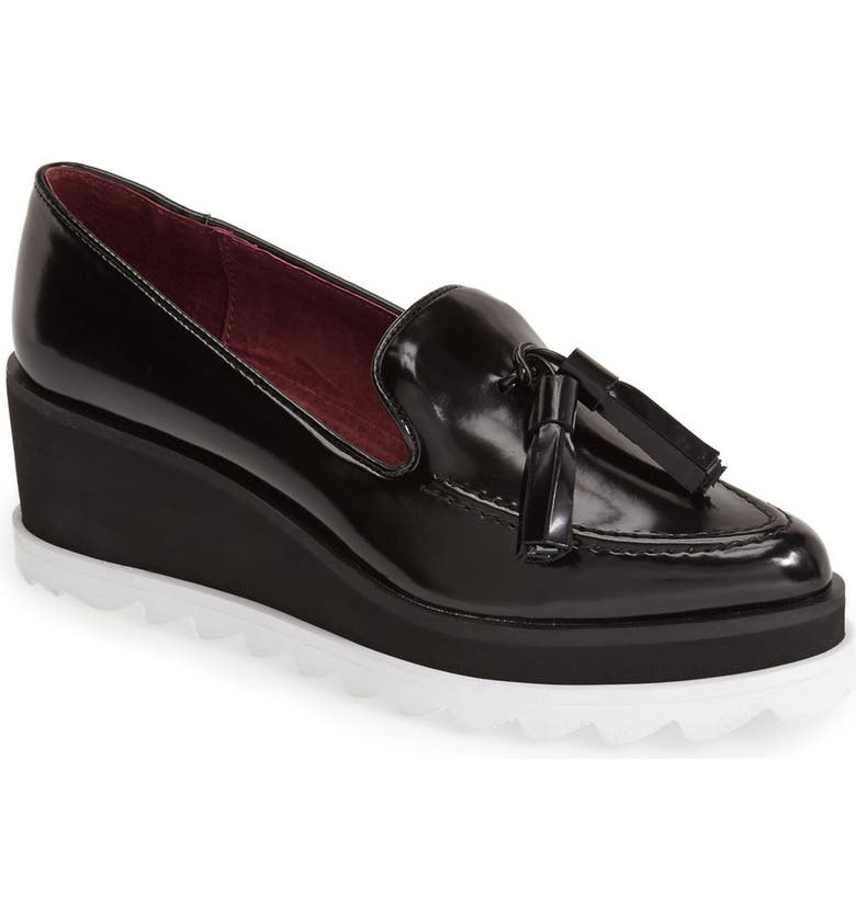 SIXTYSEVEN 'Harlow' Wedge Loafer, Main, color, 001