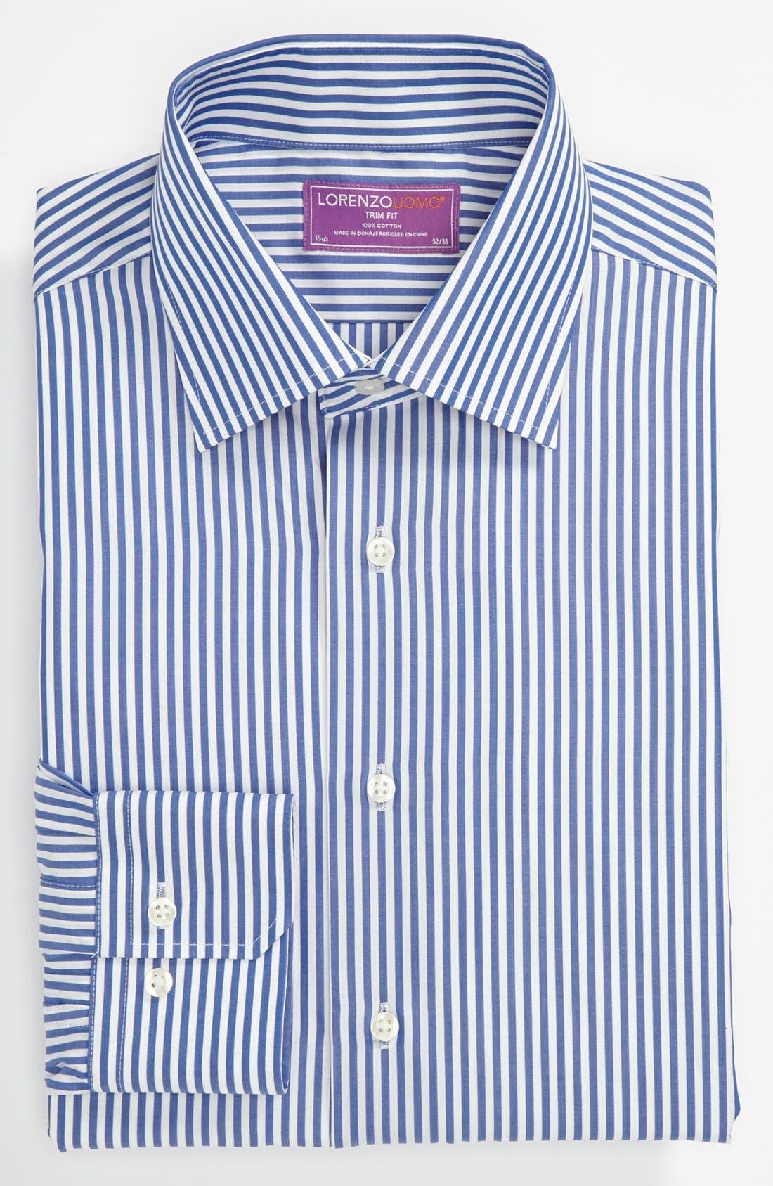 Trim Fit Dress Shirt, Main, color, 400