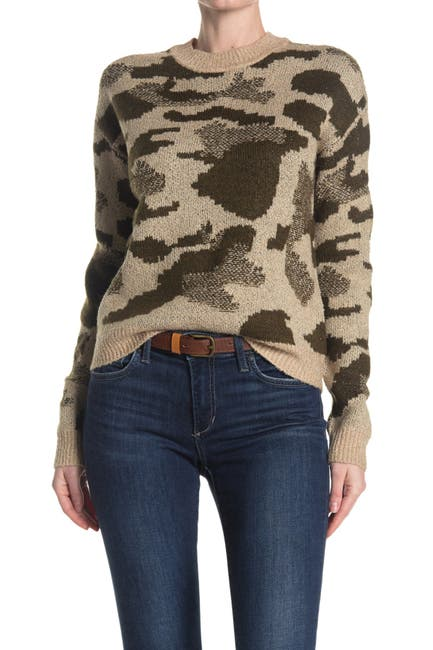 Image of Cotton Emporium Camo Knit Sweater