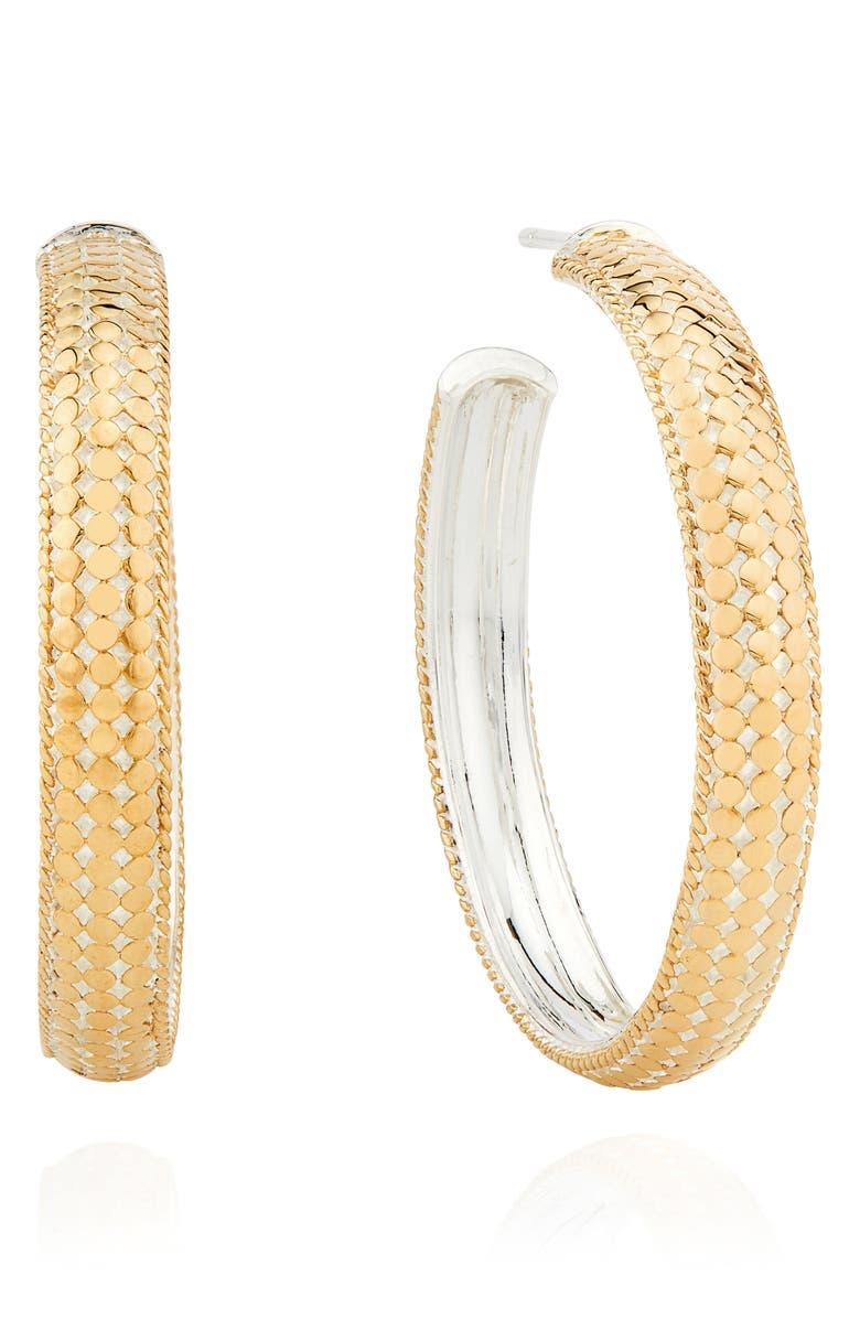 ANNA BECK Medium Dome Hoop Earrings, Main, color, GOLD