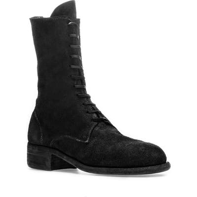 Guidi Tall Lace-Up Boot, Black