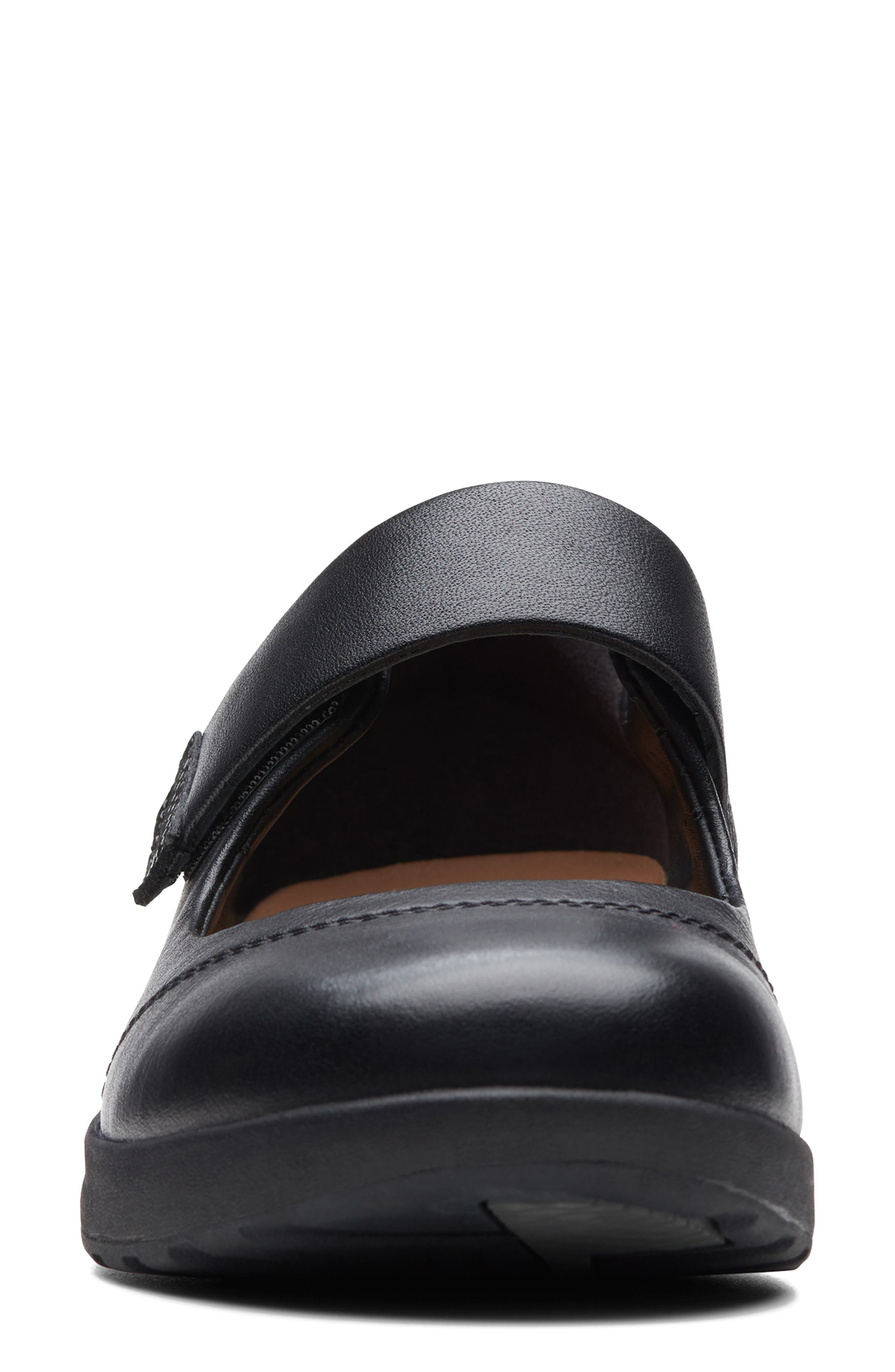 ,                             Un Adorn Mary Jane Flat,                             Alternate thumbnail 3, color,                             BLACK LEATHER/ SUEDE COMBI