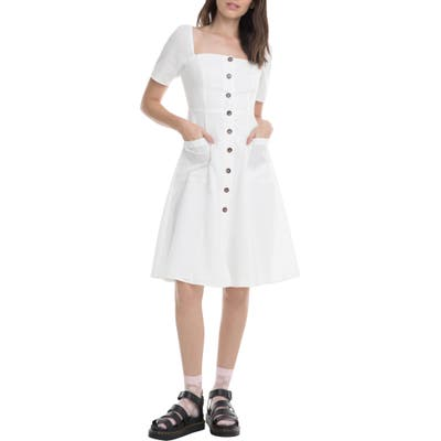 Astr The Label Ramona A-Line Dress, White
