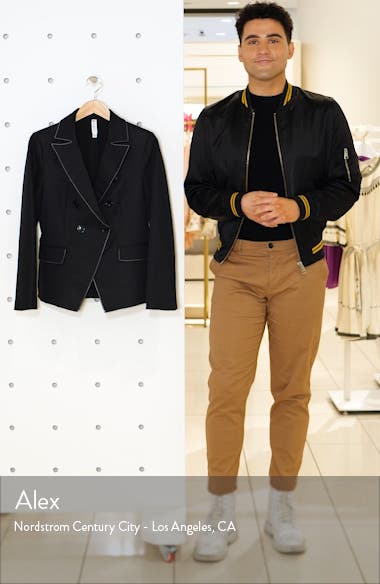 Contrast Stitch Double Breasted Blazer, sales video thumbnail