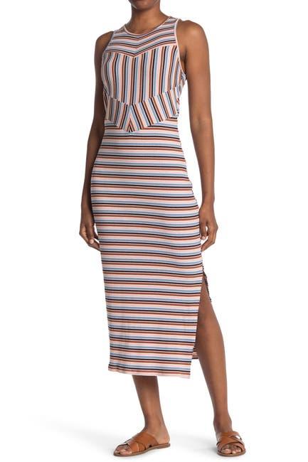 Image of NSR Midi Striped Knit Dress