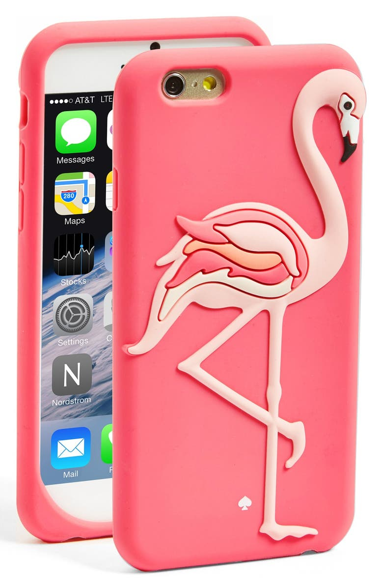 KATE SPADE NEW YORK 'flamingo' iPhone 6 silicone case, Main, color, 650