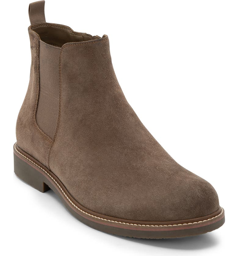 BLONDO Grant Waterproof Chelsea Boot, Main, color, DARK TAUPE SUEDE