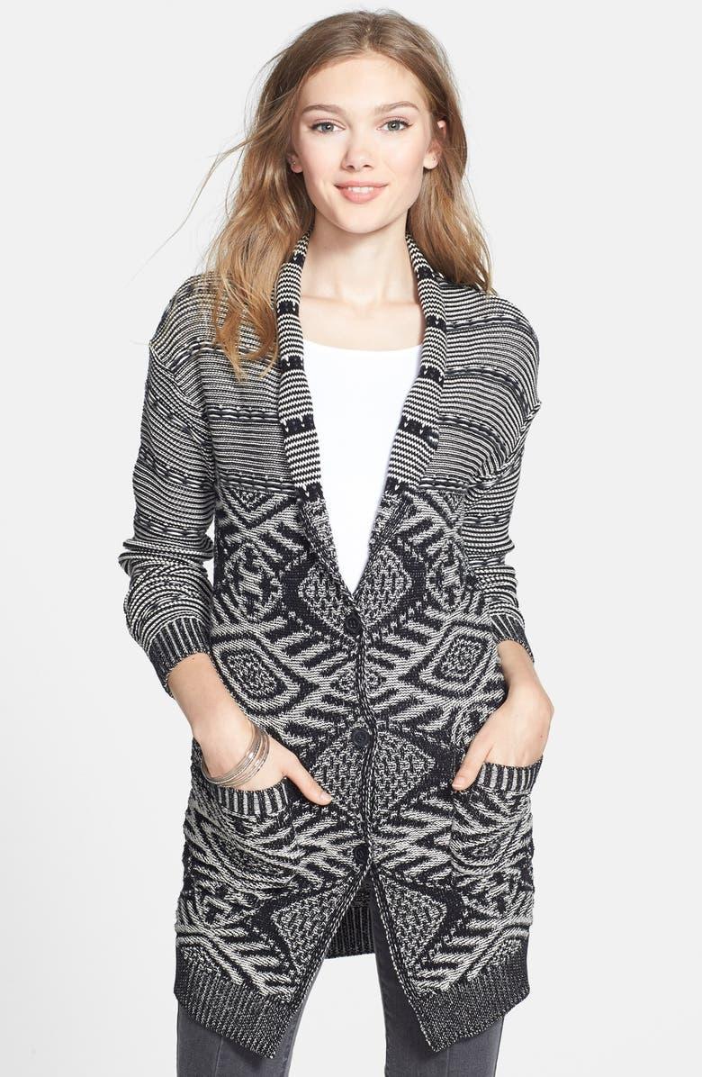 BP. Jacquard Knit Long Cardigan (Juniors) | Nordstrom