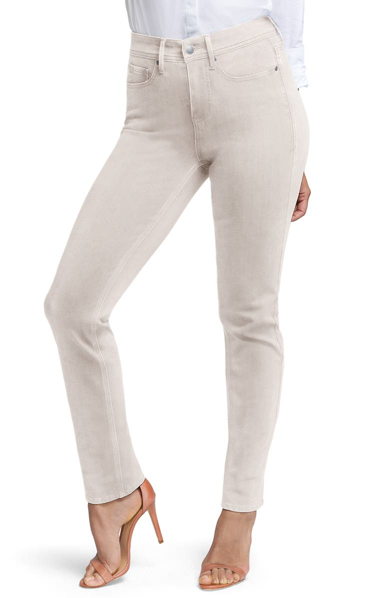 CURVES 360 BY NYDJ Slim Straight Leg Ankle Jeans, Main, color, FEATHER