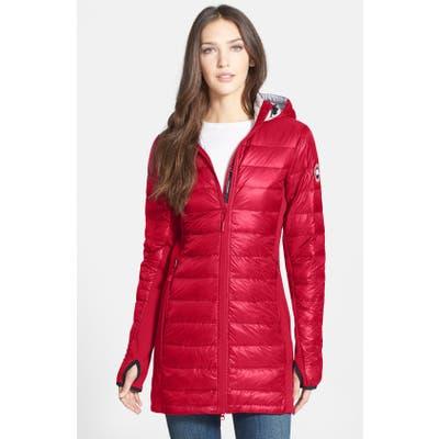Canada Goose Hybridge Lite Hooded Packable Down Coat, Red