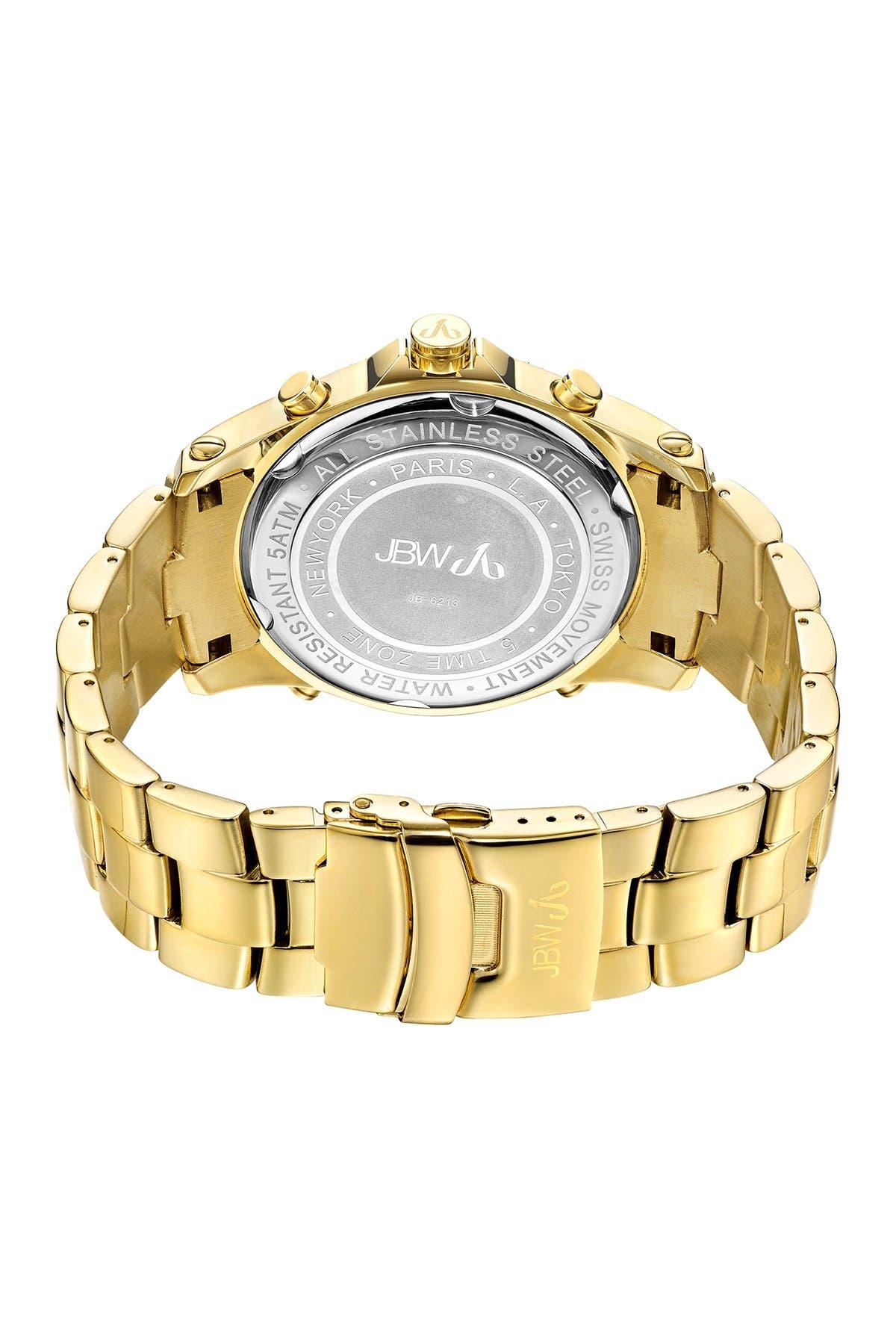 Image of JBW Men's Jet Setter Diamond Watch, 50mm - 2.34 ctw