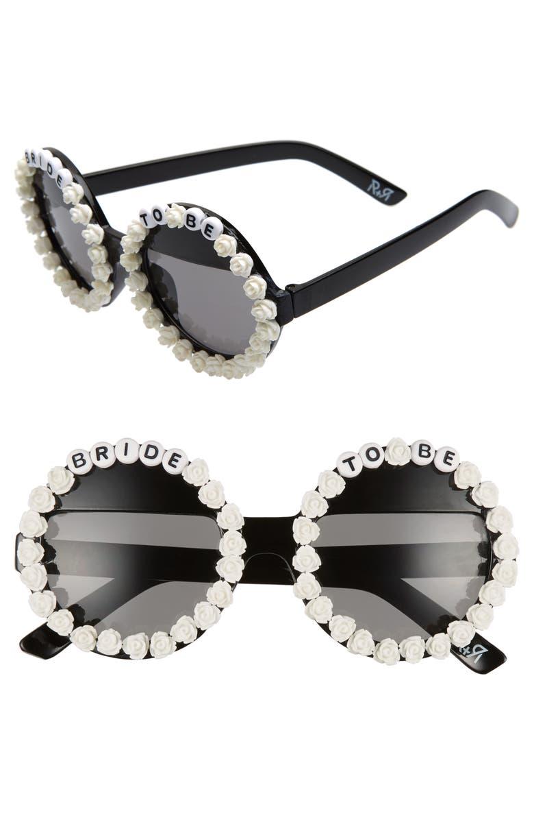 Rad Refined Bride To Be Round Sunglasses