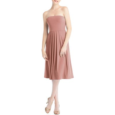 Dessy Collection Multi-Way Loop Fit & Flare Dress, Pink