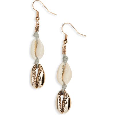 Stella + Ruby Cowrie Shell Drop Earrings
