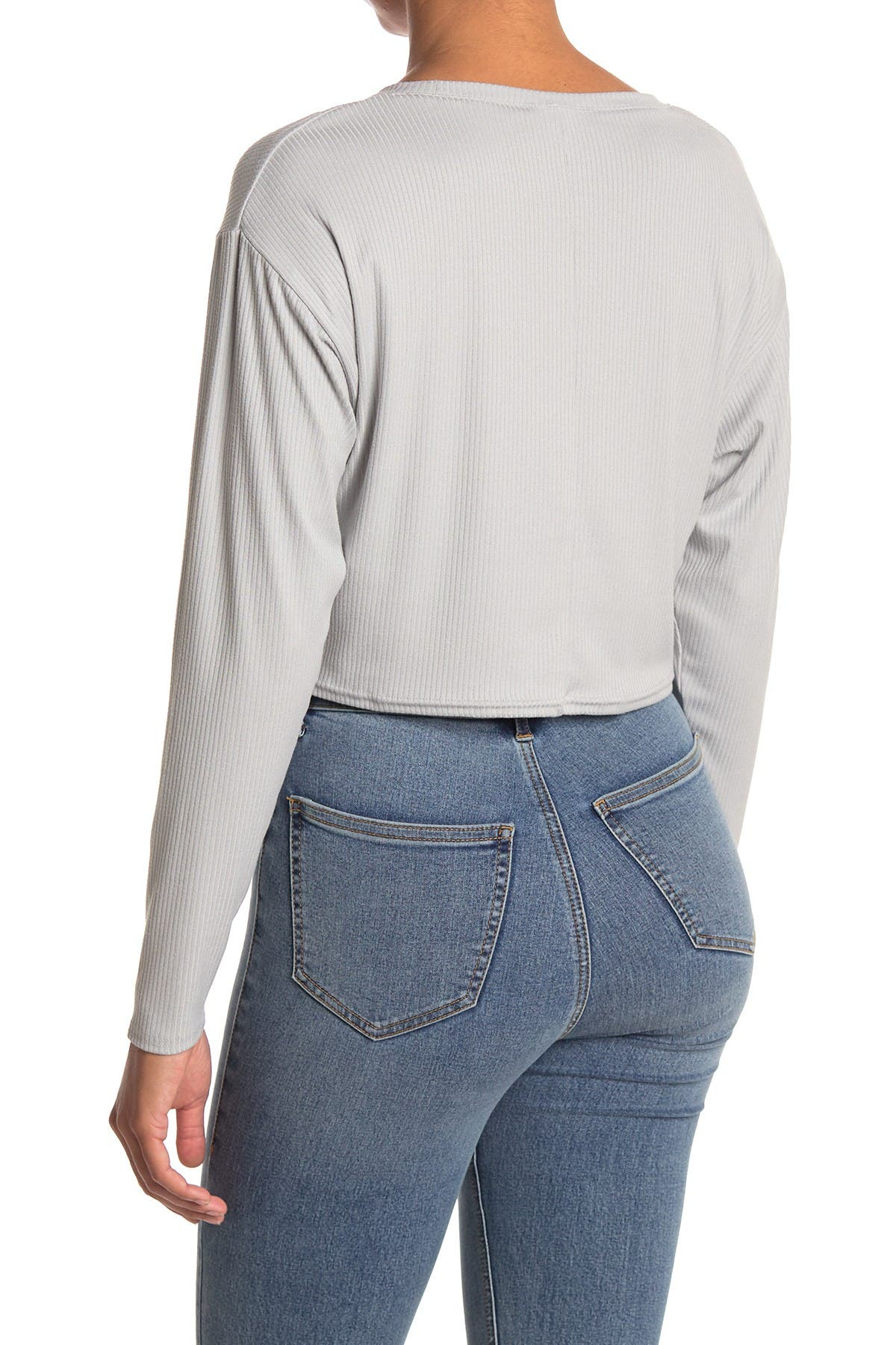 Image of Abound Cropped Rib Knit Shirt