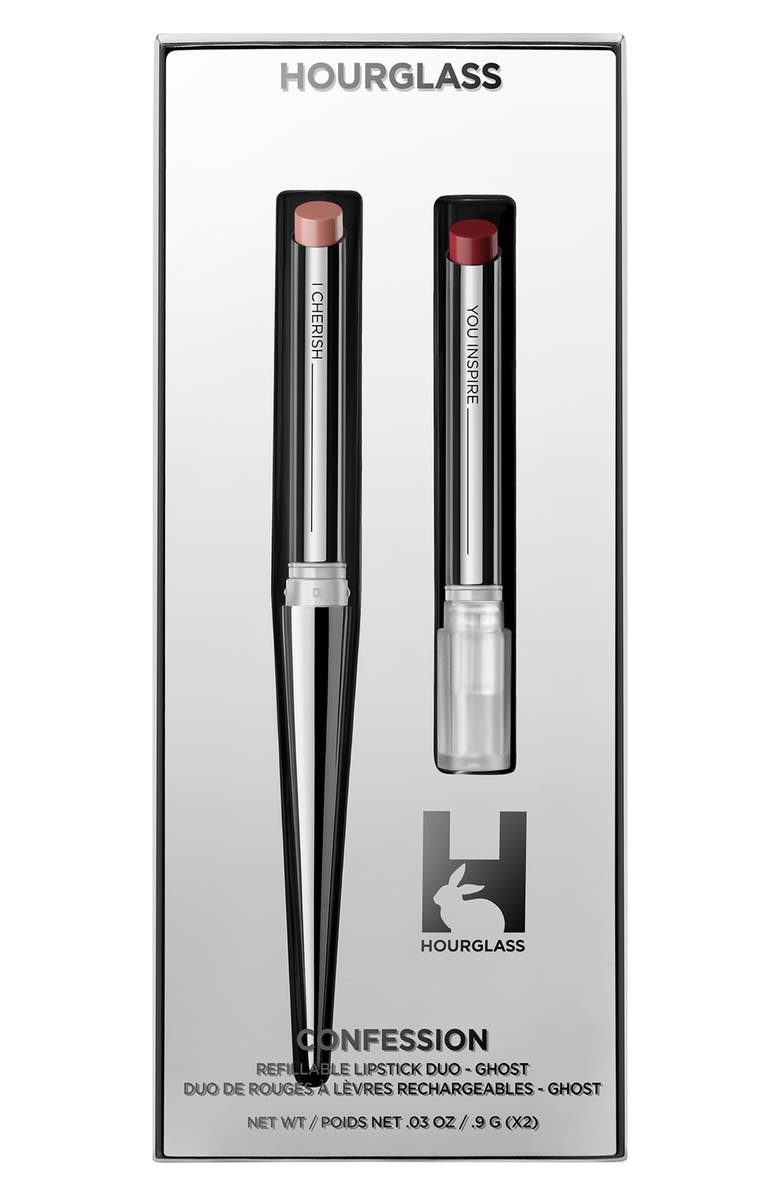 HOURGLASS Full Size Confession Ultra Slim Refillable Lipstick Set, Main, color, NO COLOR