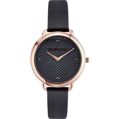 Ted Baker London Hetttie Leather Strap Watch, 37mm