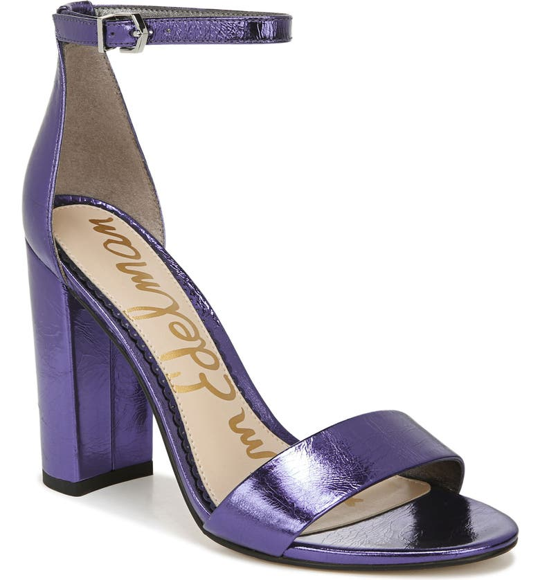 SAM EDELMAN Yaro Ankle Strap Sandal, Main, color, POP VIOLET LEATHER