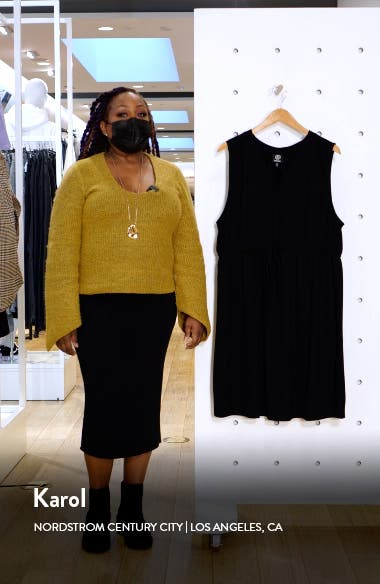 Drawstring Jersey Dress, sales video thumbnail