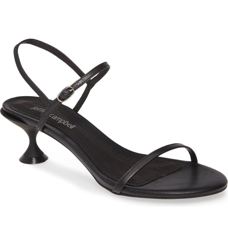 JEFFREY CAMPBELL Twilight 2 Kitten Heel Sandal, Main, color, BLACK