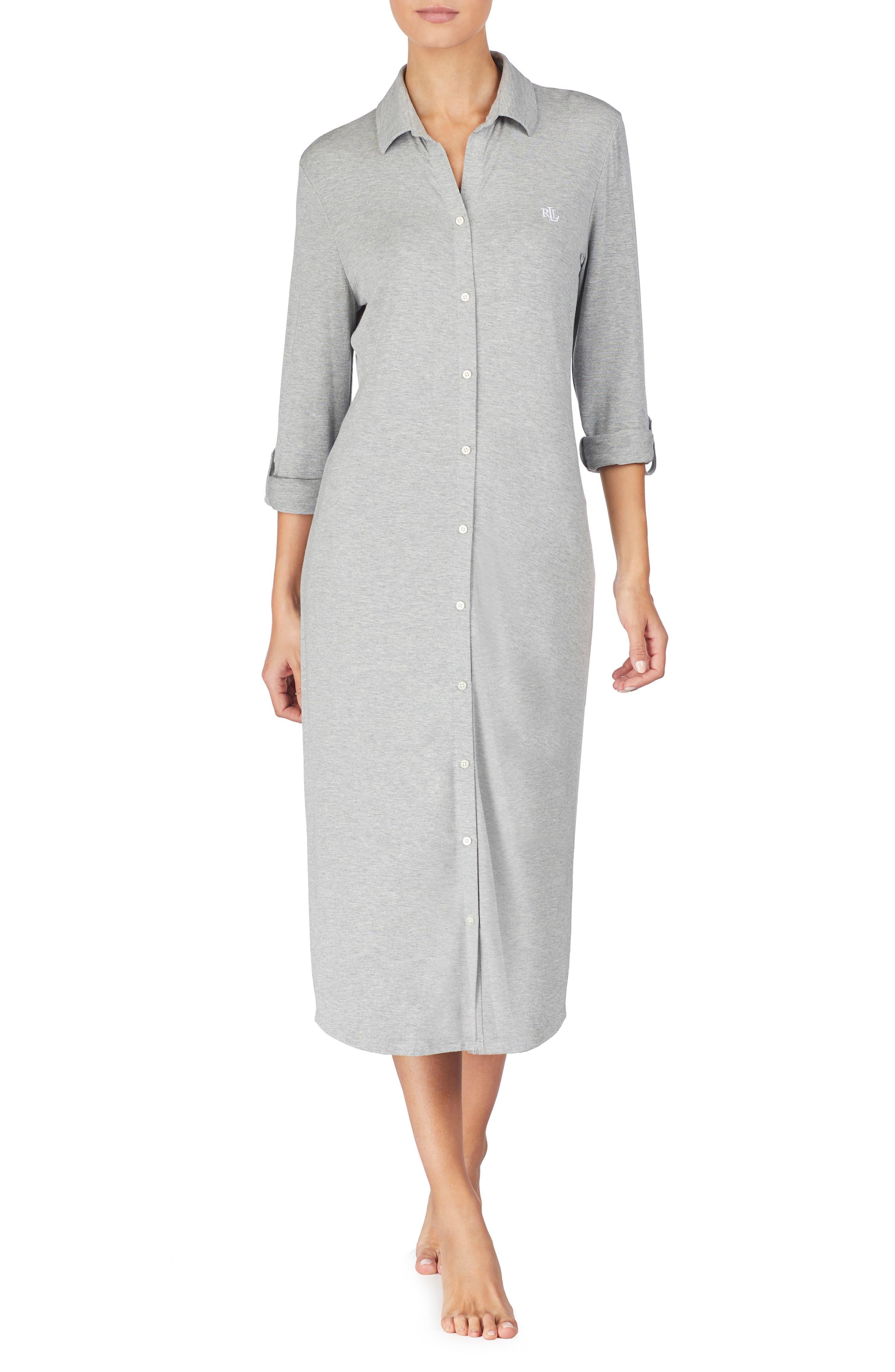 Lauren Ralph Lauren Ballet Long Nightgown, Grey