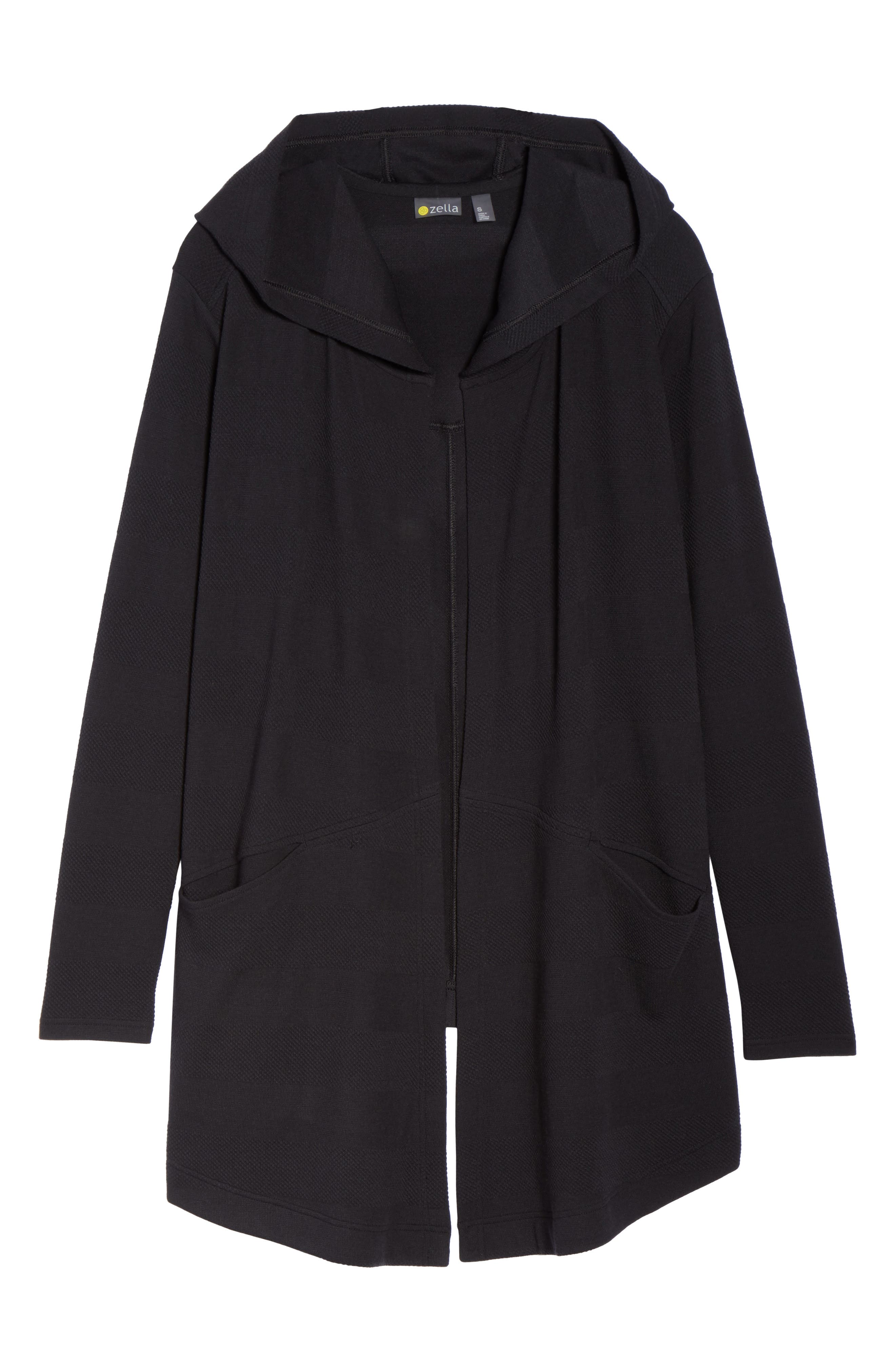 ,                             Ria Hooded Cardigan,                             Alternate thumbnail 7, color,                             001
