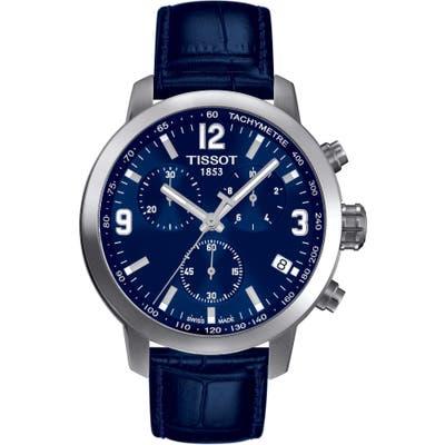 Tissot Prc200 Chronograph Leather Strap Watch, 41Mm