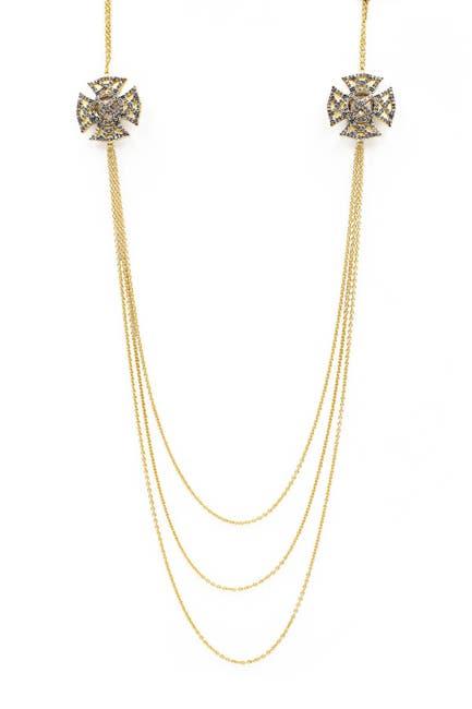 Image of Freida Rothman Maltese Pave Strike Shield Layered Necklace