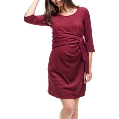 Maternal America Faux Wrap Maternity Dress