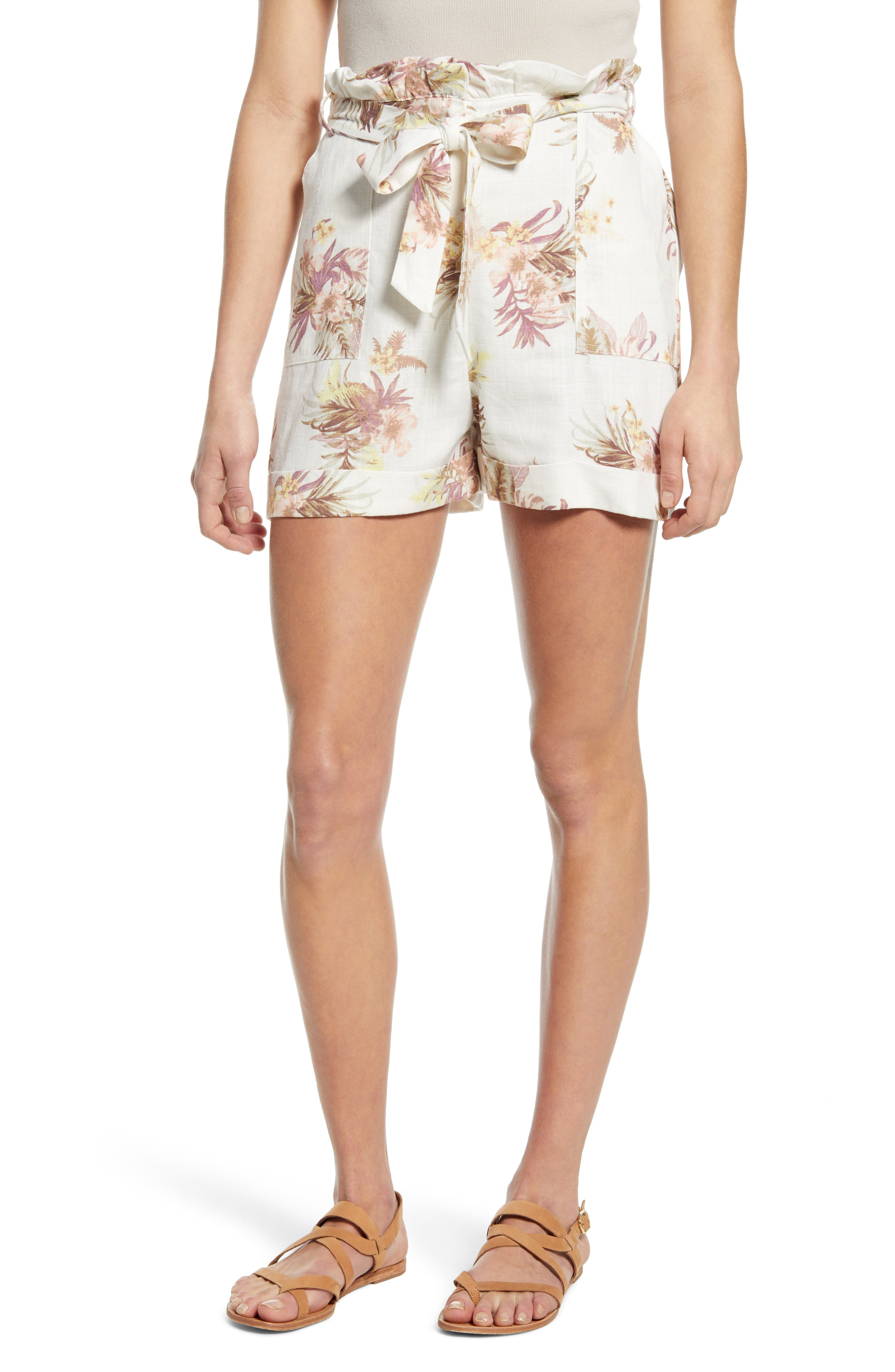 Women's Minkpink Tropic Dreaming Shorts,  Medium - White