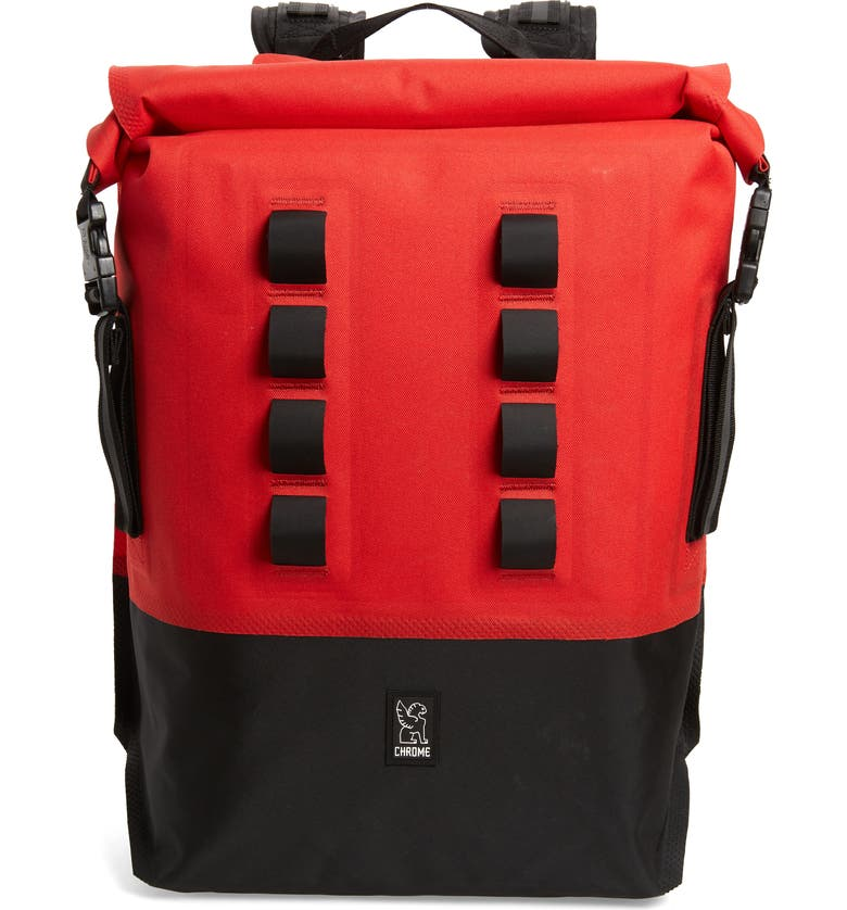 CHROME Urban Ex Rolltop Waterproof Backpack, Main, color, RED/BLACK
