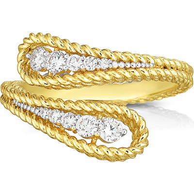 Roberto Coin Byzantine Barocco Diamond Bypass Ring