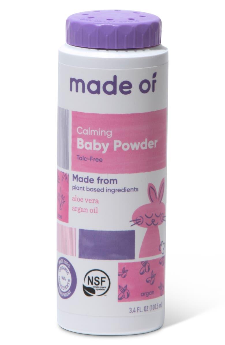 MADE OF Calming Organic Baby Powder, Main, color, 960