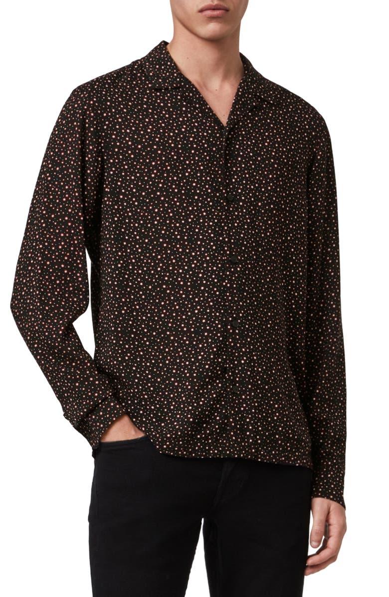 ALLSAINTS Stellar Slim Fit Shirt, Main, color, 003