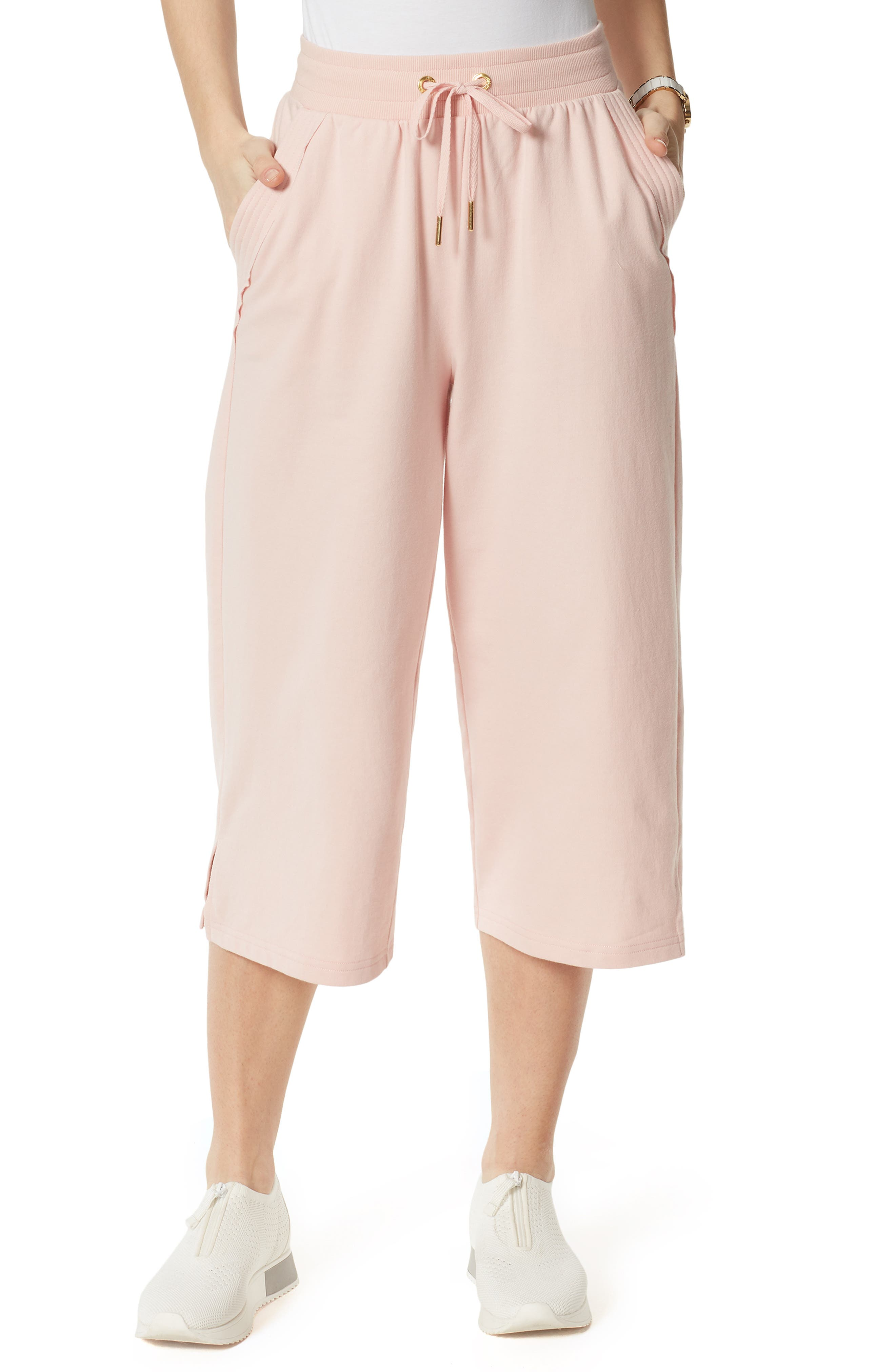French Terry Crop Wide Leg Pants