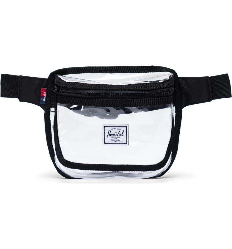 HERSCHEL SUPPLY CO. Fifteen Clear Belt Bag, Main, color, BLACK/ CLEAR