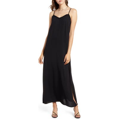 Halogen Camisole Maxi Dress, Black